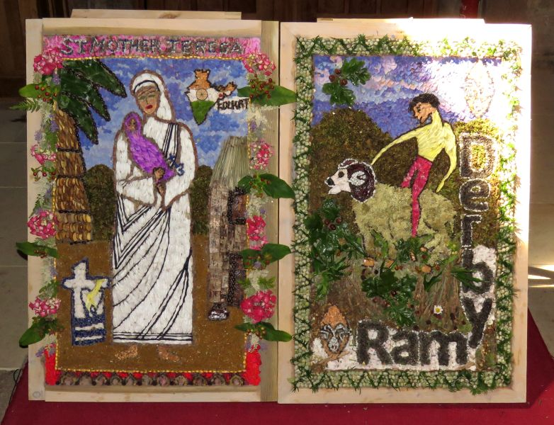 Crich 2017 - St Mary's Church Well Dressings (1 - 2)