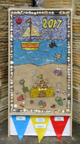 Unstone 2017 - St Mary's Infant School Well Dressing