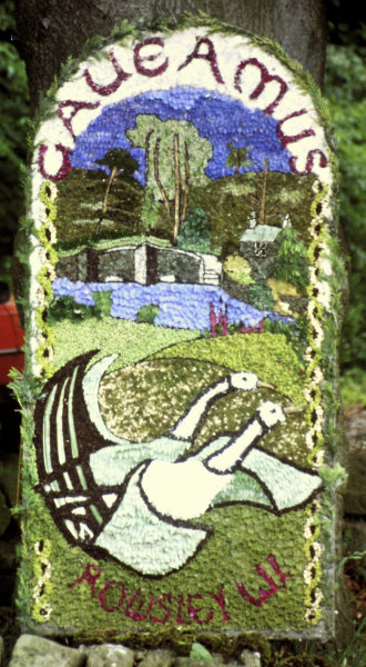 Rowsley 1997 - Women's Institute Well Dressing