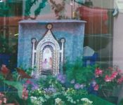 Decorated Shop Window with miniature Well Dressing