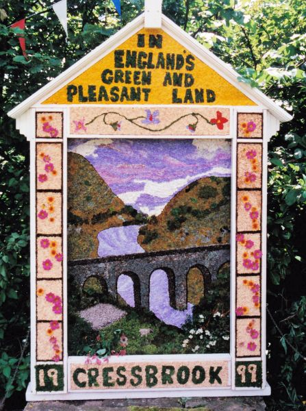 Cressbrook 1999 - Village Green Well Dressing