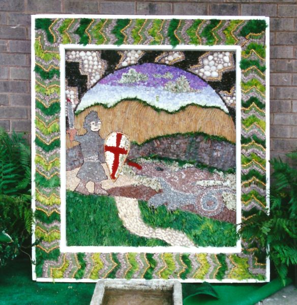 Glapwell 1999 - Bramley Vale Primary School Well Dressing